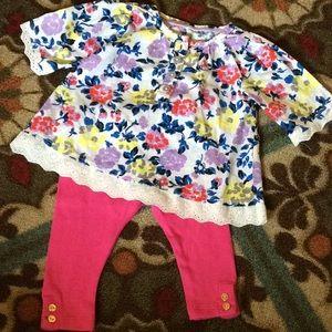 Kate Spade Oshkosh Baby Girl Shirt Pants 6M